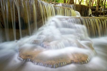 kanchanaburi: Huai Mae Khamin Waterfall in Kanchanaburi, Thailand Stock Photo