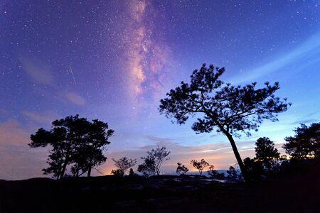 phu: Milky Way at Phu Kradueng National Park of thailand