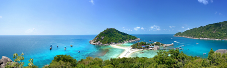 panorama view point Koh Tao - a paradise island in Thailand. Stock Photo