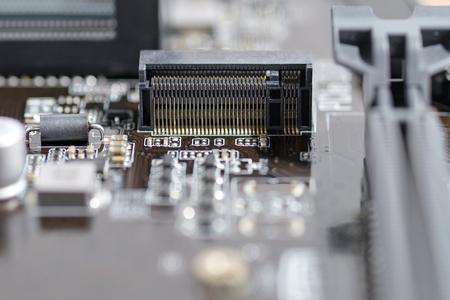 mainboard: msata port connec on mainboard computer pc