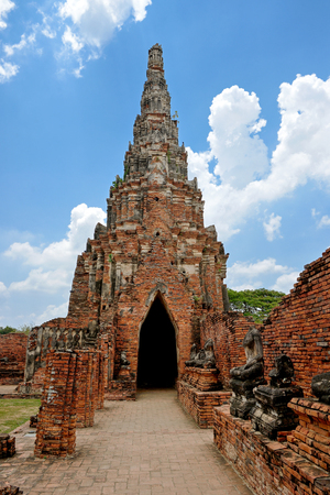 landmark temple Wat Chaiwatthanaram ayutthaya provent  thailand