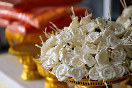 sandalwood flowers to pay our final tribute Banque d'images