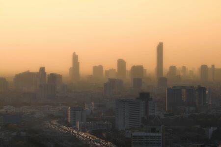 building in bangkok town fog pm2.5 problem