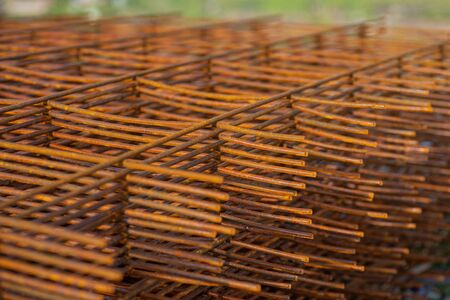 Close up Steel grating for construction in site work