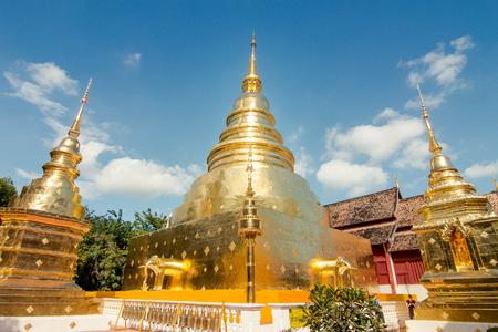 Temple in Chiang Mai Wat Phra Singh pagoda