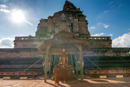 チェンマイタイのワットチェディルアン寺院