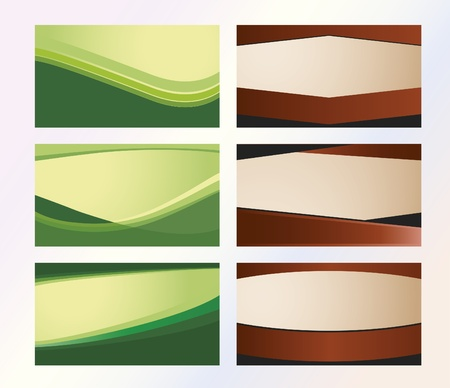 Six model background for business cards for companies