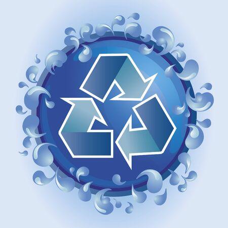 Recycle water Stock Vector - 9780424