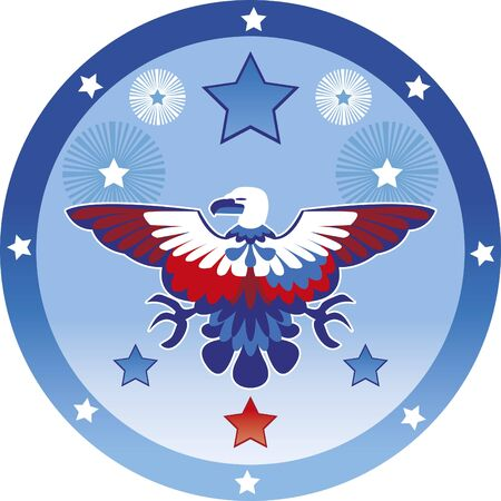 Eagle July 4th - Image of a stylized eagle with the colors of the independence of the   United States. July 4th