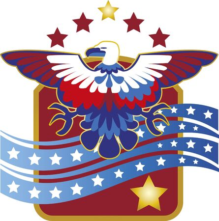 Eagle July 4th. Image of a stylized eagle with the colors of the independence of the United States. July 4th
