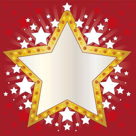 celebrity: Frame stars. Frame for use on invitations, decorations, or background