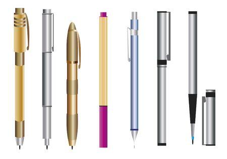 Pen Set. Set of various types of pens