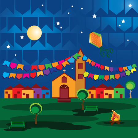 june: Typical festival in Brazil, June and July