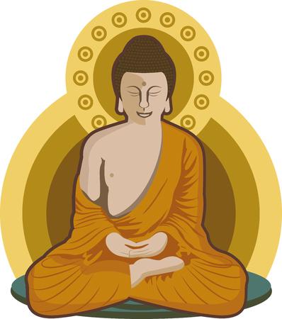 Meditating Buddha - Meditation Position Illustration