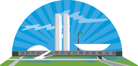 Monument in Brasilia - Brazil