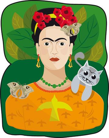 This is a famous artist mexico city Illusztráció