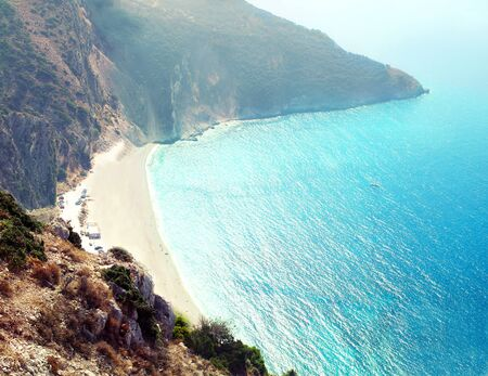 kefalinia: one of the best beaches of Europe, Myrtos