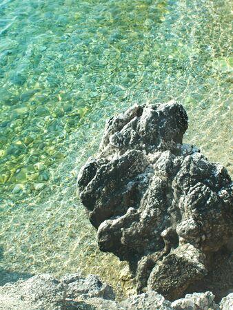 scala: waves and volcanic stone in Scala, Keafalonia