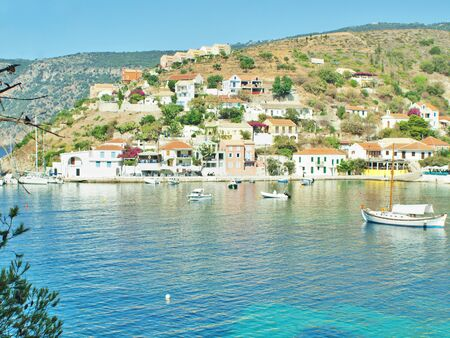 kefalinia: coastline of Kefalonia, village Assos