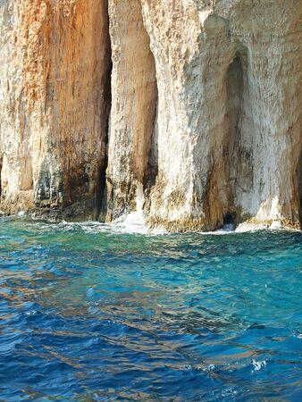 amazing blue caves in Zakinthos island, Greece Stock Photo - 11070161