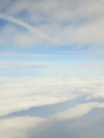 heaven and clouds view of Kefalonia from airplane, textures Stock Photo - 12409681
