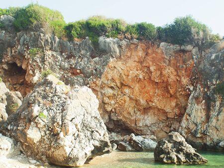 scala: a coastline in Scala, Kefalonia Stock Photo