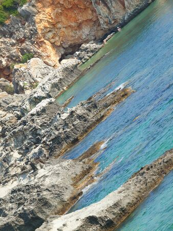 kefalinia: a small pebble beach in Scala, Kefalonia