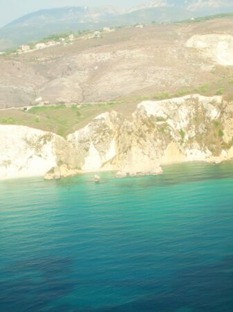 view of Kefalonia from airplane photo