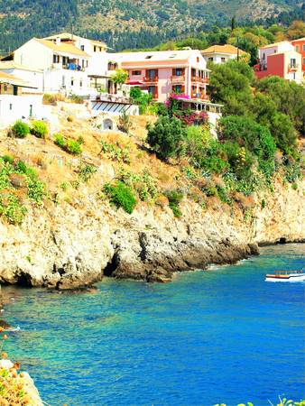kefalinia: coastline of Kefalonia, Greece Stock Photo