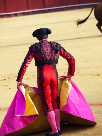 Matador in Ring with Bull  photo