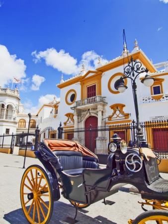 The bull arena of Seville, Spain