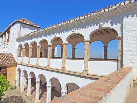 moresque: La Alhambra de Granada: Santa Maria church Stock Photo