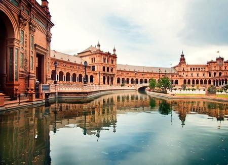 Spanish Square in Sevilla, Spain Editorial