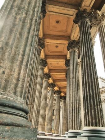 sobor: pillars of Kazan Cathedral, Saint petersburg, Russia. Also known as Kazanskiy Kafedralniy Sobor.