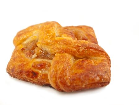 Delicious freshly baked pastry filled  ruits photo