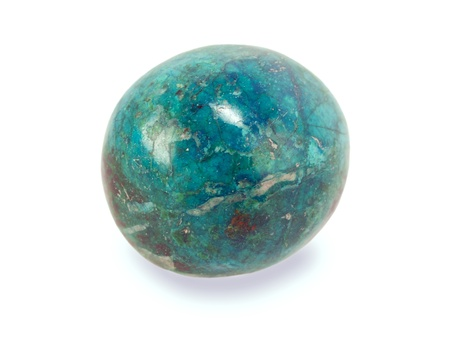 chrysocolla stone isolated on white Stock Photo - 20162574