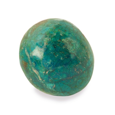 chrysocolla stone isolated on white Stock Photo - 20170147