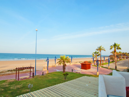 beach in Chiclana at early morning. Andalusia, Spain