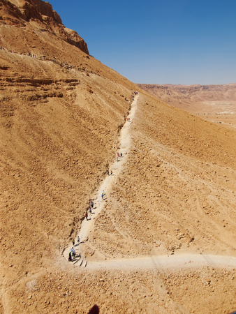 road in fortress Masada, Israel photo