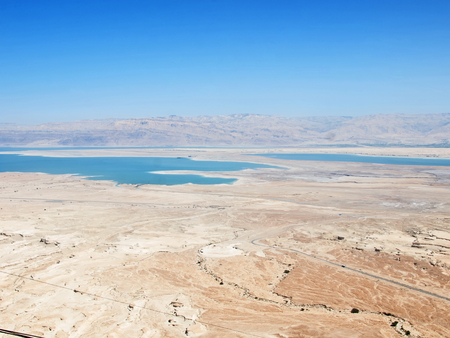 judean hills: view of Dead Sea, Israel