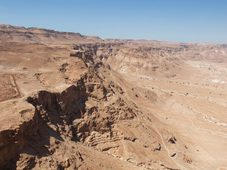 view from fortress Masada, Israel photo