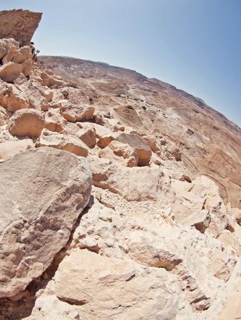 masada: view from fortress Masada, Israel