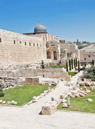 archaeological park near the walls of Jerusalem