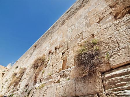 The wailing wall in Jerusalem city, Israel photo