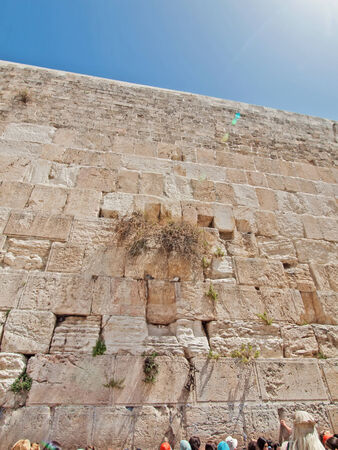 The wailing wall in Jerusalem city, Israel photo