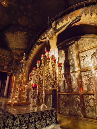 sepulchre: Jerusalem Church of the Holy Sepulchre calvary Editorial