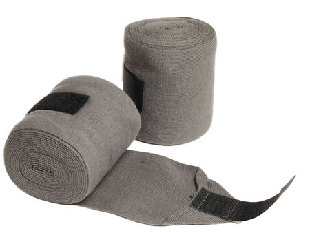 knitwear: horse grey knitwear bandages isolated on white
