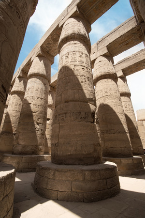 thebes: The Great Hypostyle Hall of the Temple of Karnak. Luxor, Egypt.
