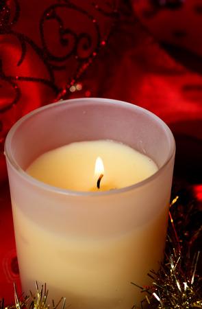 aroma: christmas aroma candle.  indoor