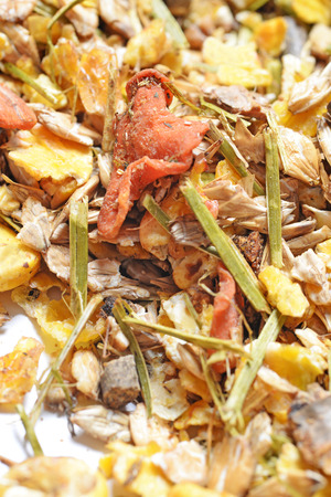 natural sportive  muesli background. for horse.macro